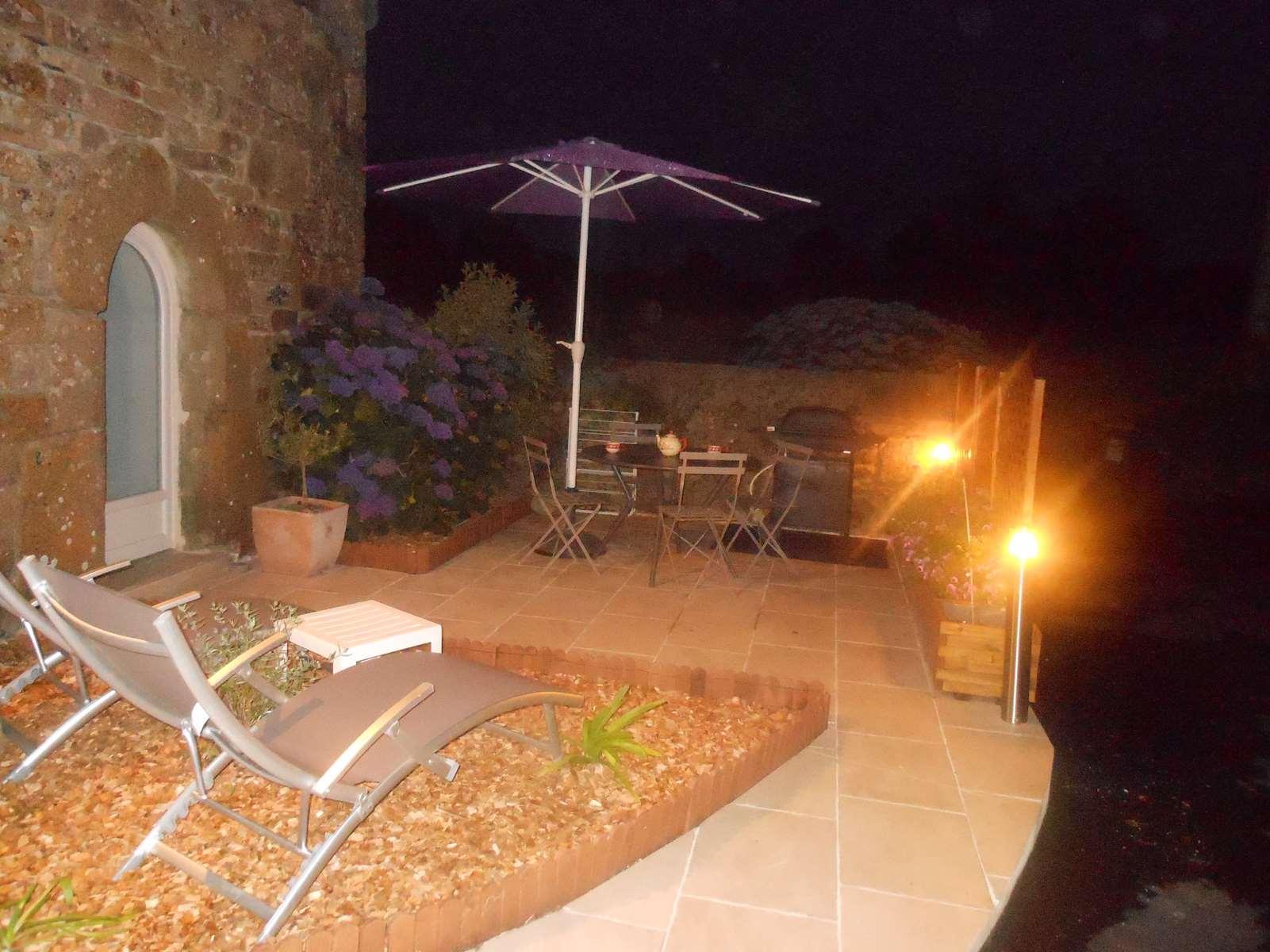 La terrasse en nocturne