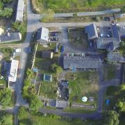 vue aérienne des gîtes