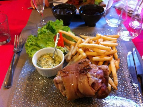 Jarret de porc frites